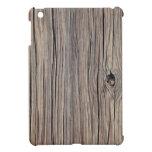 Fondo de madera resistido - modificado para requis iPad mini cárcasas