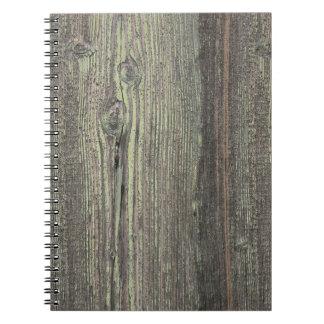 Fondo de madera resistido oscuridad rústica libretas espirales