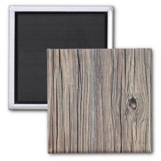 Fondo de madera resistido vintage - de madera imán cuadrado