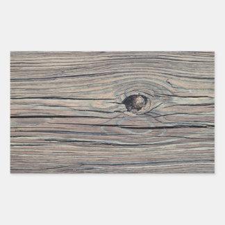 Fondo de madera resistido vintage - de madera rectangular pegatinas
