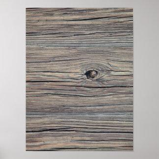 Fondo de madera resistido vintage - de madera póster