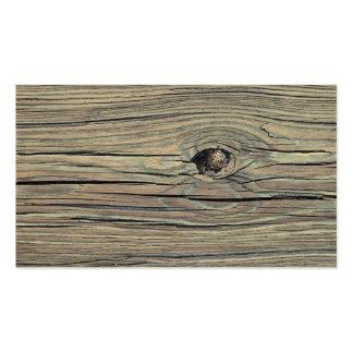 Fondo de madera resistido vintage - de madera tarjetas de visita