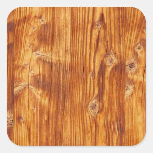 Fondo de madera rústico - pegatina cuadrado