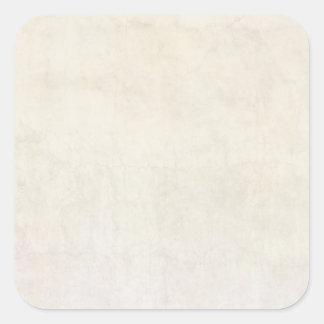 Fondo de marfil antiguo de papel del pergamino del pegatina cuadrada
