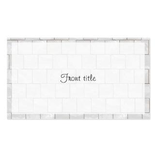 Fondo de mármol decorativo blanco de la teja tarjetas de visita