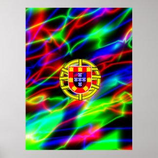 fondo de neón brillante de los símbolos hermosos d posters