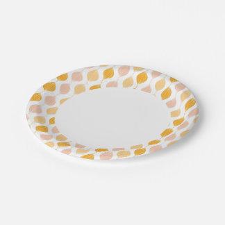 Fondo de oro abstracto del modelo del ogee platos de papel