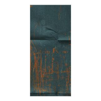Fondo de papel arrugado azul oxidado diseño de tarjeta publicitaria