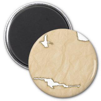 Fondo de papel de la arruga w/Burns Imán Redondo 5 Cm