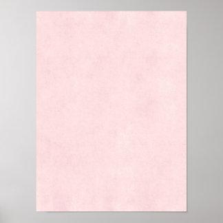 Fondo de papel del pergamino color de rosa rosado  póster