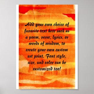 Fondo de papel rasgado naranja del arte del collag