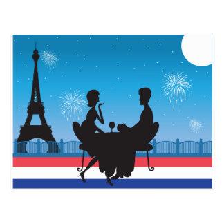 Fondo de París Tarjetas Postales