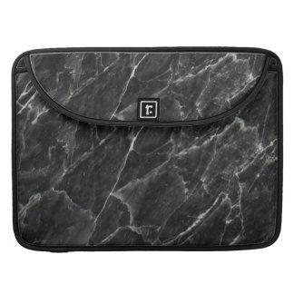 Fondo de piedra color de rosa negro del modelo funda para macbook pro