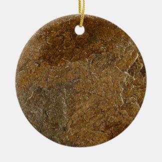 Fondo de piedra de la pizarra - espacio en blanco adorno navideño redondo de cerámica
