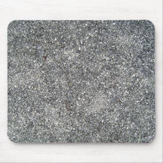 Fondo de piedra de los guijarros blancos y negros tapetes de ratón