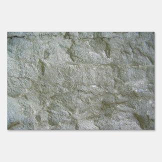 Fondo de piedra gris de la textura de Rockwall Cartel