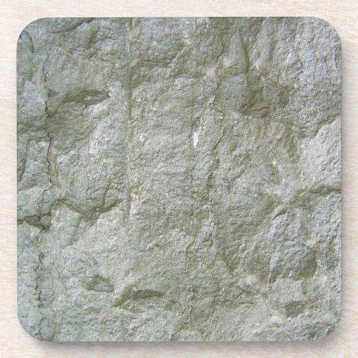 Fondo de piedra gris de la textura de Rockwall Posavasos De Bebidas
