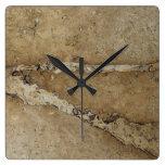 Fondo de piedra - plantilla de mármol de la roca d reloj de pared