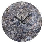 Fondo de piedra - plantilla gris de la roca de la  relojes de pared