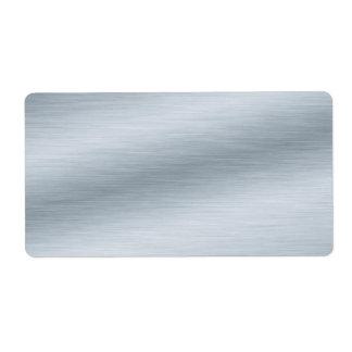 Fondo de plata cepillado etiqueta de envío