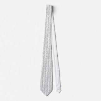 Fondo de plata de las notas musicales corbata personalizada