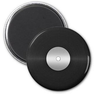 Fondo de registro de LP del vinilo Imán Redondo 5 Cm