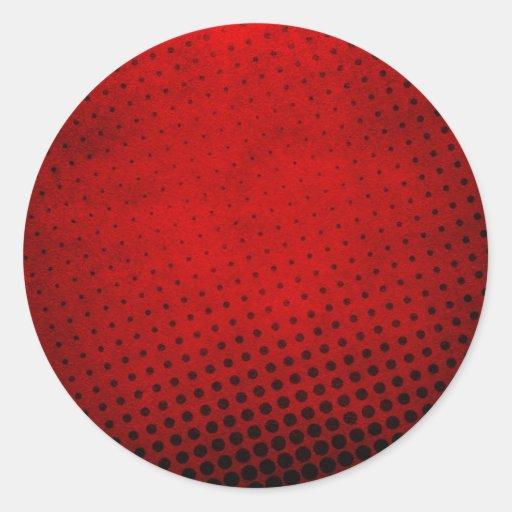 Fondo de semitono del modelo pegatina redonda