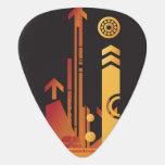 Fondo de semitono técnico 2 plumilla de guitarra