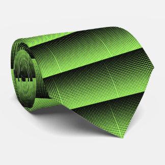 Fondo de semitono verde y negro retro abstracto corbatas