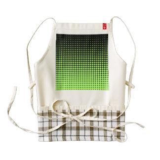 Fondo de semitono verde y negro retro abstracto delantal zazzle HEART