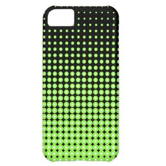 Fondo de semitono verde y negro retro abstracto funda para iPhone 5C