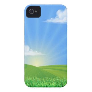 Fondo de Sun del campo de Rolling Hills iPhone 4 Case-Mate Cobertura