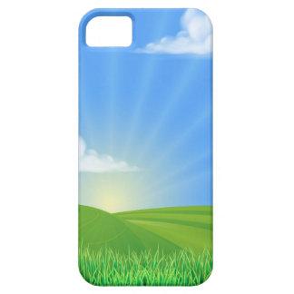 Fondo de Sun del campo de Rolling Hills iPhone 5 Funda