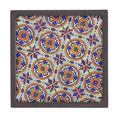 Fondo decorativo de la tela cajas de joyas de calidad