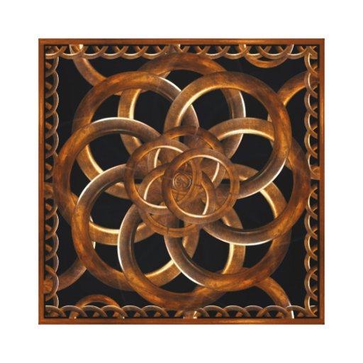 Fondo decorativo de madera refinado impresion de lienzo