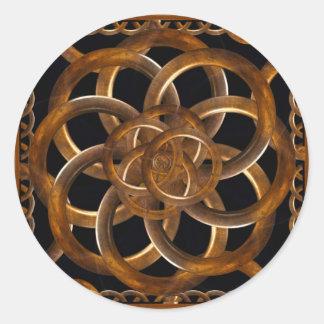 Fondo decorativo de madera refinado pegatina redonda