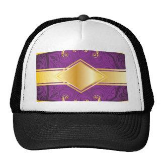 Fondo decorativo púrpura gorros