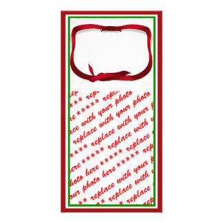 Fondo del acebo del navidad con la etiqueta del re tarjetas fotograficas
