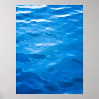 Fondo del agua azul - plantilla modificada para póster