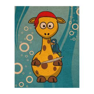 Fondo del agua de la jirafa del pirata papel de corcho