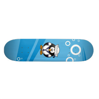 Fondo del agua del pingüino del marinero tabla de patinar