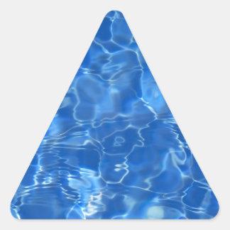 fondo del agua calcomania trianguloada
