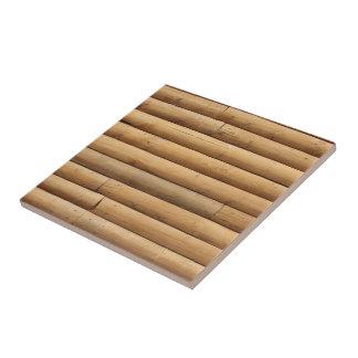 Fondo del apartadero de la cabaña de madera azulejo cuadrado pequeño
