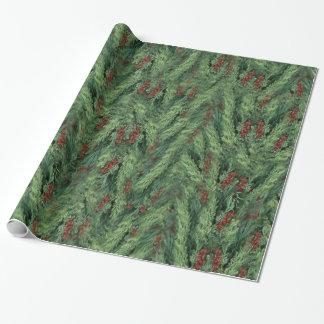 Fondo del árbol de navidad papel de regalo