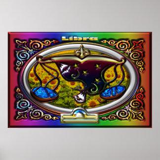 Fondo del arco iris de la muestra del zodiaco del  impresiones