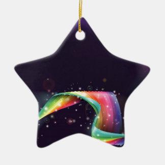 Fondo del arco iris del ordenador portátil adorno de cerámica en forma de estrella