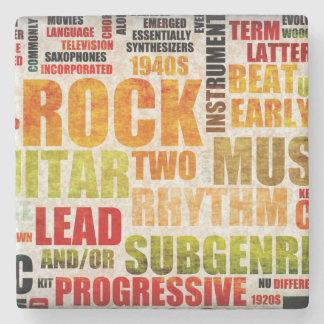Fondo del arte del poster de la música del posavasos de piedra