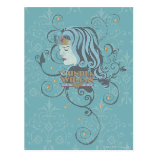 Fondo del azul de la Mujer Maravilla Postal