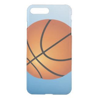 Fondo del azul del icono del baloncesto fundas para iPhone 7 plus