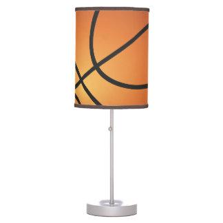Fondo del azul del icono del baloncesto lámpara de escritorio
